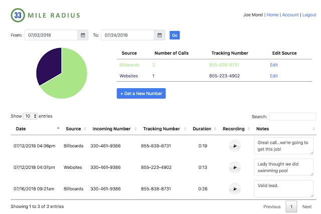 33 Mile Radius' New Tracking System